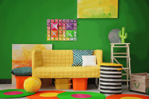How to add color to a room with accessories