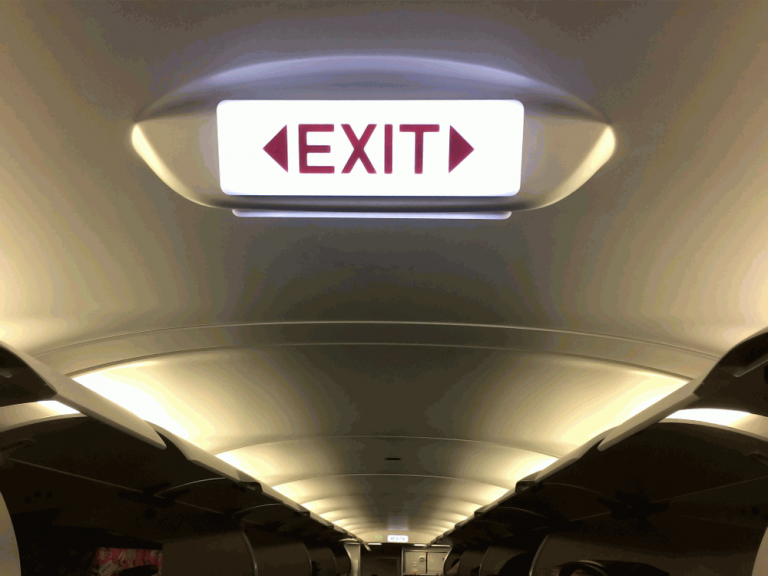 Look for an airplane Exit Row Seat