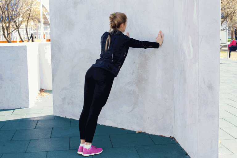 Wall push-ups Exercise help to lift breast