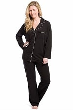 Fishers Finery Women's Ecofabric Full Length Pajama Set;