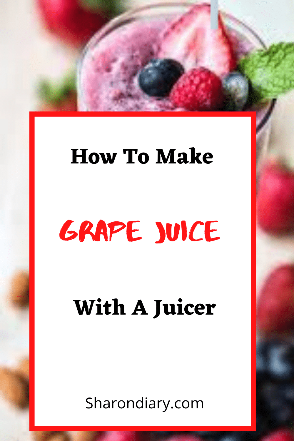 how to make grape juice with a juicer
